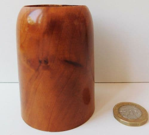 Tealight holder made of thuya wood Burled wooden candle holder 7.5 cm tall H